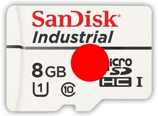 8GB Industrial MicroSD UHS-1 N2 Linux